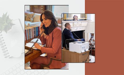 How to recreate Prince William and Kate's chic home offices on a budget