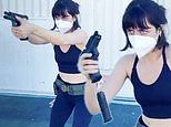 Ana de Armas shows off her gun skills while training for her new movie The Grey Man