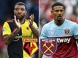 WATFORD V WEST HAM: Hammers will be boosted by Sebastien Haller's return