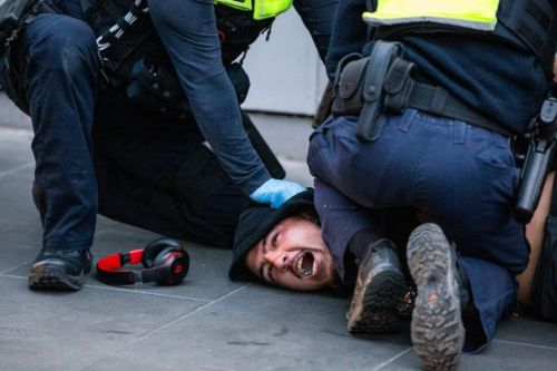 Chaotic Videos Show Anti-Vaccine Protesters In Violent Clash With Police