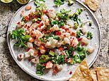 Come out of your shell! Ceviche of bass and prawns with chilli