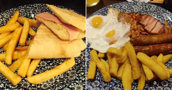 People are monitoring the number of chips they get at Wetherspoons - and it's a postcode lottery
