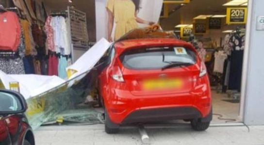 Car crashes into front of Co Tyrone clothes shop