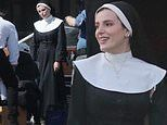 Bella Thorne looks saintly as she changes into a nun's habit to shoot new film in LA