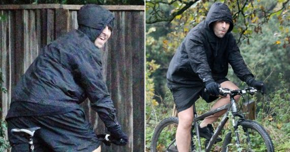 Liam Gallagher heads out for bike ride after doctors advise him to stop jogging due to arthritis
