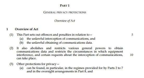 """""""Privacy is Surveillance"""" - Part 1 of the Investigatory Powers Bill"""