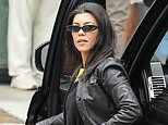 Kourtney Kardashian wears all-black to Sunday Service where son Reign and nephew Saint race around