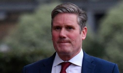 Labour leader Keir Starmer speaks to police following road accident