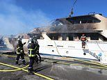 Superyacht which rents for £66,000 a week is destroyed by massive blaze