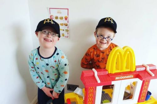 Mum re-creates McDonald's as birthday treat for twin sons with Down's syndrome