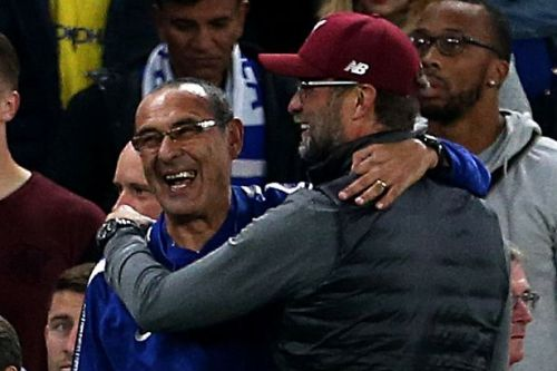 Liverpool boss Jurgen Klopp apologises to Antonio Conte and Maurizio Sarri for cheering on Serie A rivals