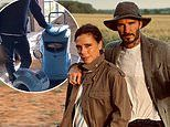 'Looked OK before someone ran it over!' Victoria Beckham mocks David's hat as they enjoy a walk