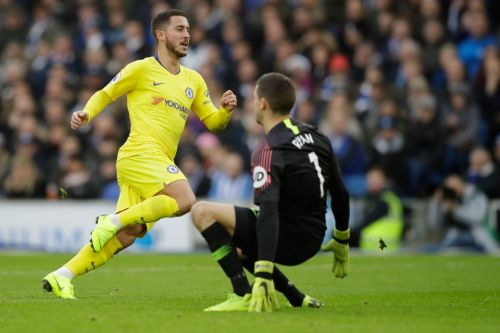 Brighton keeper Mat Ryan glad Eden Hazard has 'p***ed off somewhere else' after ex-Chelsea star scored four in four against him