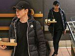 Kate Ritchie looks downcast as she heads out for a coffee in Randwick