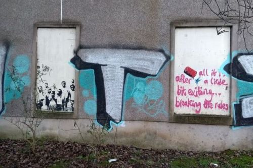 Glasgow street art thought to be work of Banksy gets restored to original glory