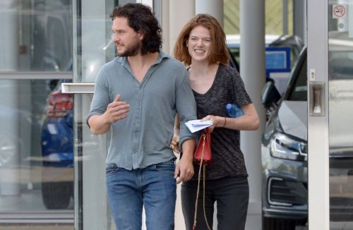 Game Of Thrones newlyweds Kit Harington and Rose Leslie can't keep their hands off each other