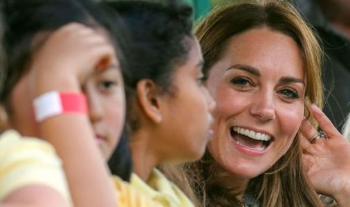 Kate makes special visit to Charlotte and George's school for mental health talk
