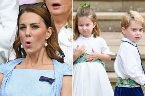 Prince George and Princess Charlotte 'smash crockery' as Kate and Wills at Wimbledon