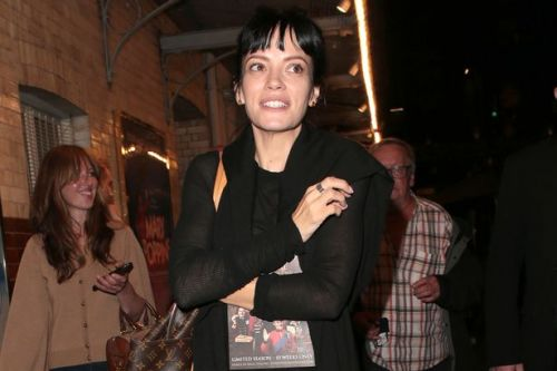 Lily Allen leaves opening night of her West End show with EastEnders star Jake Wood