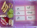 Mum reveals why she puts these word cutouts in her daughter's lunchbox every day