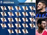 Lionel Messi included in Argentina's Copa America squad but there is no spot for Mauro Icardi