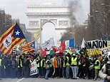 Yellow vest 'Day of Rage' violence explodes in Paris as rioters torch cars and trash shops