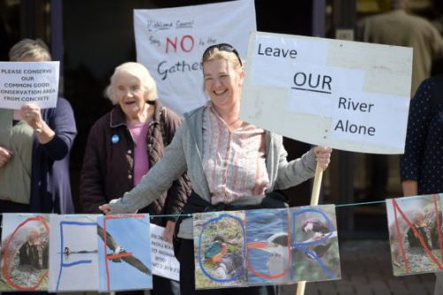 VIDEO: Protesters gather in Inverness over Highland Council's handling of River Ness art project