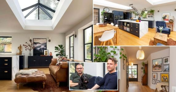 Couple transform dated Surrey house into dream family home - complete with annexe for gran