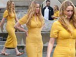 Jennifer Lawrence looks radiant in clingy dress with husband Cooke Maroney in New Orleans