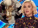 Katy Perry falls to the ground after the American Idol judges and contestants are EVACUATED