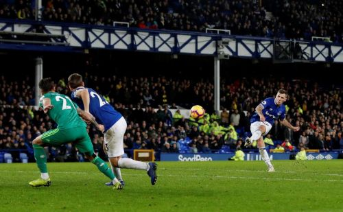 Everton 2 Watford 2: Lucas Digne rescues point for Toffees after Seamus Coleman's own goal nightmare
