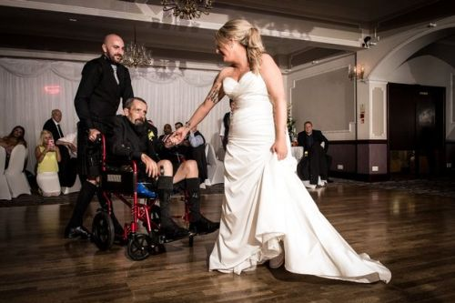 Dying dad gives daughter away on her wedding day to fulfil his final wish