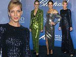 Uma Thurman, Sharon Stone and Michelle Rodriguez are shining stars at Global Ocean Gala