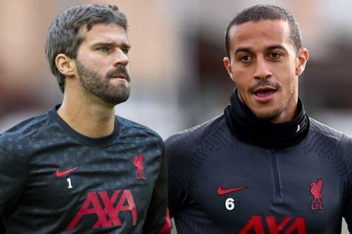 Thiago Alcantara and Alisson injured ahead of Liverpool's clash with Arsenal