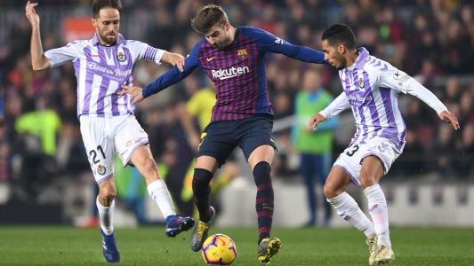 Barcelona aren't team 'we want to be' after tough Valladolid win - Pique