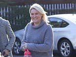 Strictly's Sara Davies unable to wipe away her smile as she's joined by Aljaz Skorjanec at studio