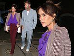 Victoria Beckham is as chic as ever as she's joined by David and their kids for a private dinner