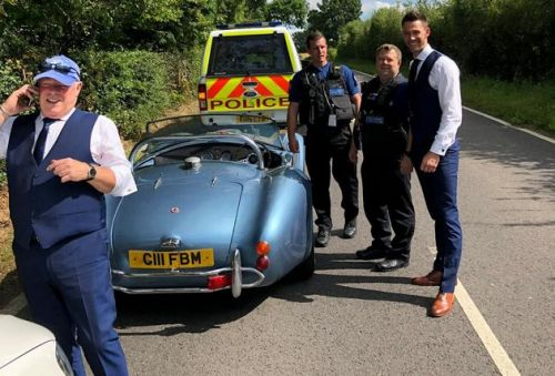 This Groom's Car Broke Down On The Way To His Wedding, So Police Came To The Rescue