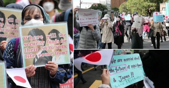 Protesters criticise Japanese princess for marrying university sweetheart