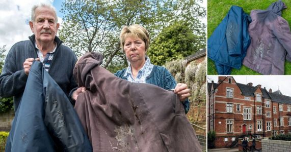 Angry couple demand apology from school after greasy gate stained their coats