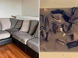 Woman sharesphotos showing why you need to wash your couch NOW