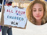 Lili Reinhart shows support for BLM and joins police brutality protest after coming out as bisexual