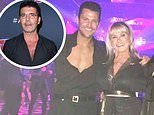 Mark Wright is jokingly compared to Simon Cowell as he poses in unbuttoned shirt
