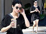 Lucy Hale goes casual chic as she steps out for iced coffee in NYC during day off from Katy Keene