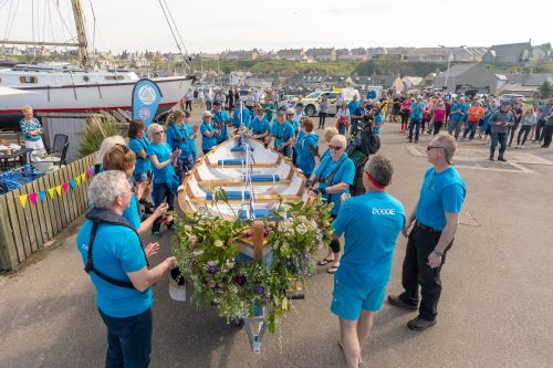 Rowing club in Moray launches new skiff in drive to keep women active