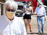 Bernie Ecclestone, 90, steps out with Brazilian wife Fabiana Flosi, 44, and their son Ace, 11 months