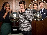 Strictly Come Dancing finalists pose with the Glitterball trophy ahead of finale