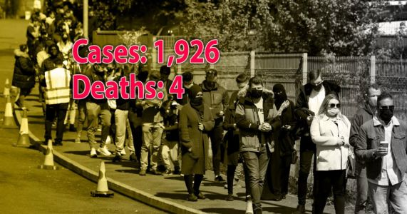 UK records four more Covid deaths and 1,926 infections