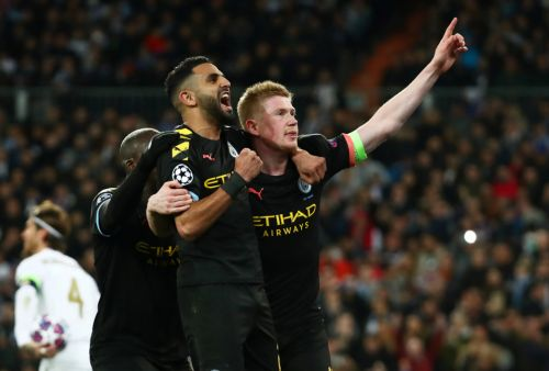 Real Madrid 1 Man City 2: De Bruyne holds nerve from spot as City finally score pen to take huge lead at Bernabeu