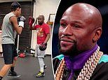Floyd Mayweather announces he's becoming a trainer as he shares video training 14-year-old nephew